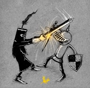 white_knight_vs_black_knight_by_nicktheartisticfreak-d5ujowb